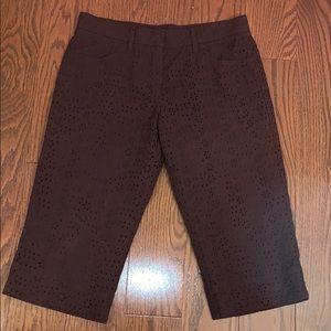 Auth Brown Burberry London Bermuda Shorts Sz 4